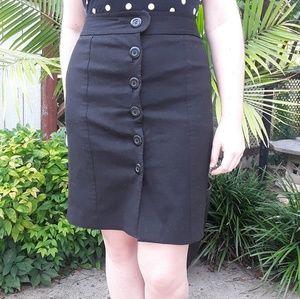 LOFT black button pencil skirt